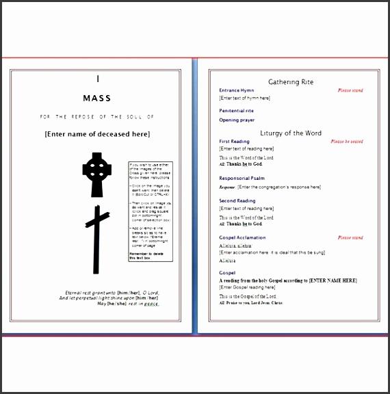 microsoft word template funeral programs wordtemplates