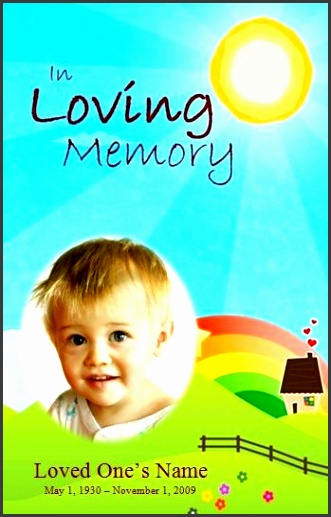 child funeral program template funeral memorial order of service template for baby check out