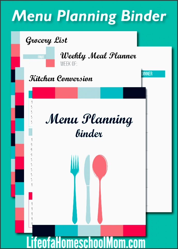 busy mom s meal planning binder free for a limited time