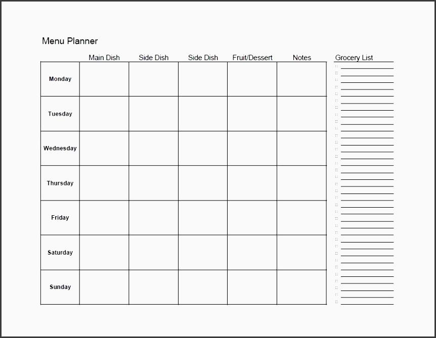 printable meal plan template 12