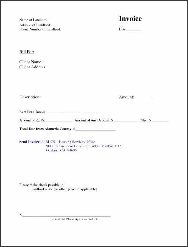 invoice for rent template ideas monthly rental receipt 19 best photos o