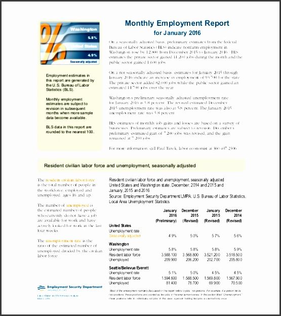 employee monthly report template example