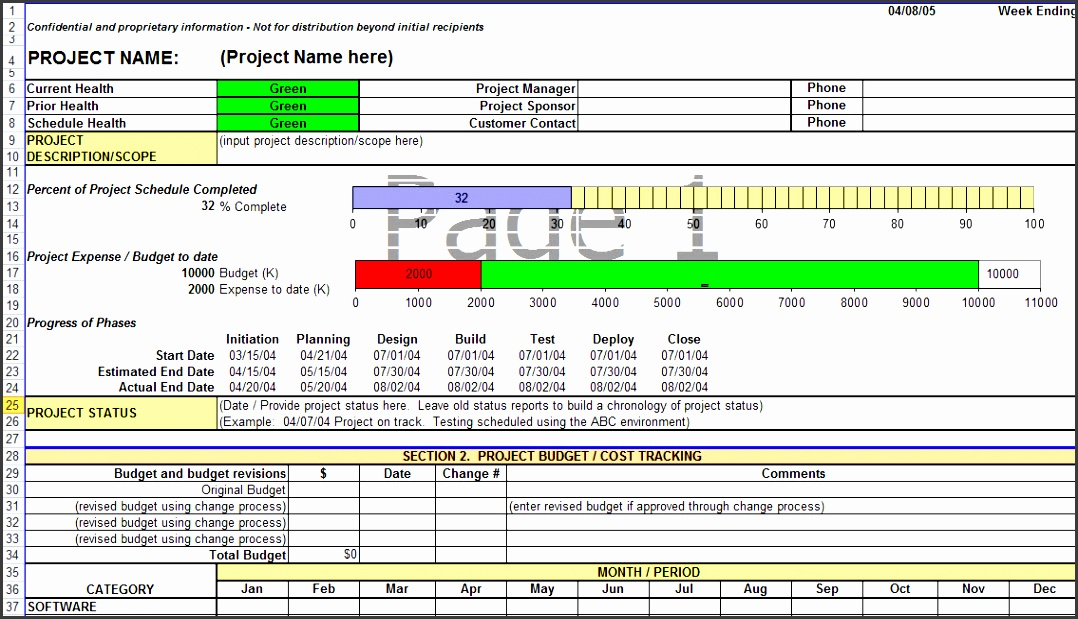 project update template excel project status report in excel mvkjdq