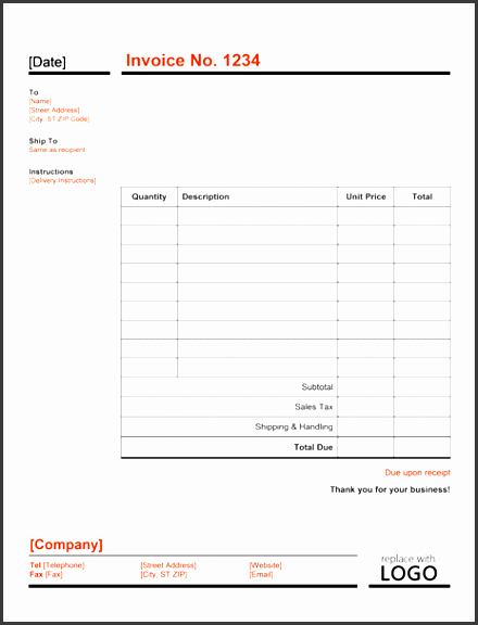 modern invoice template ms word template