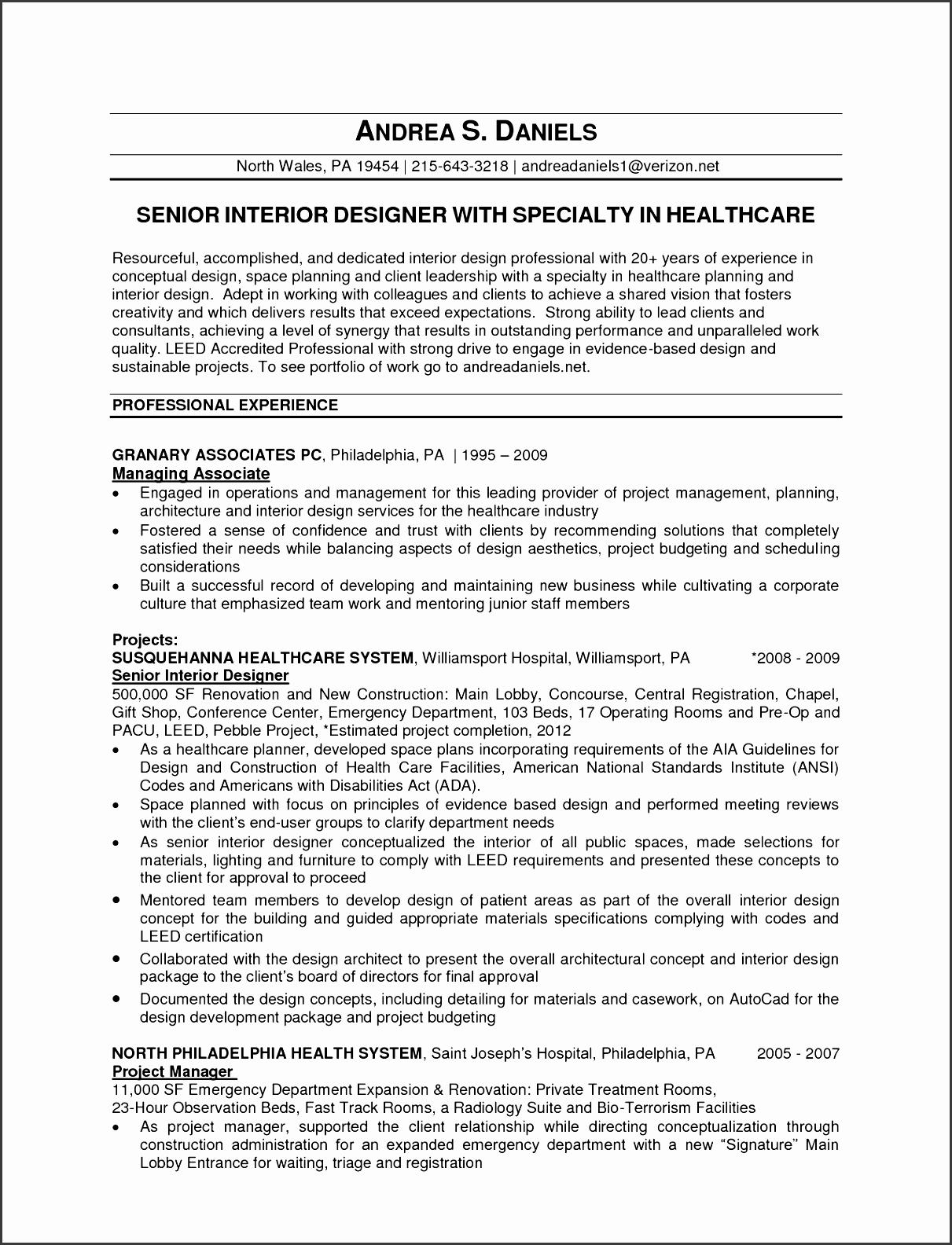 senior graphic designer resume cover letter lovely assistant interior design intern resume template