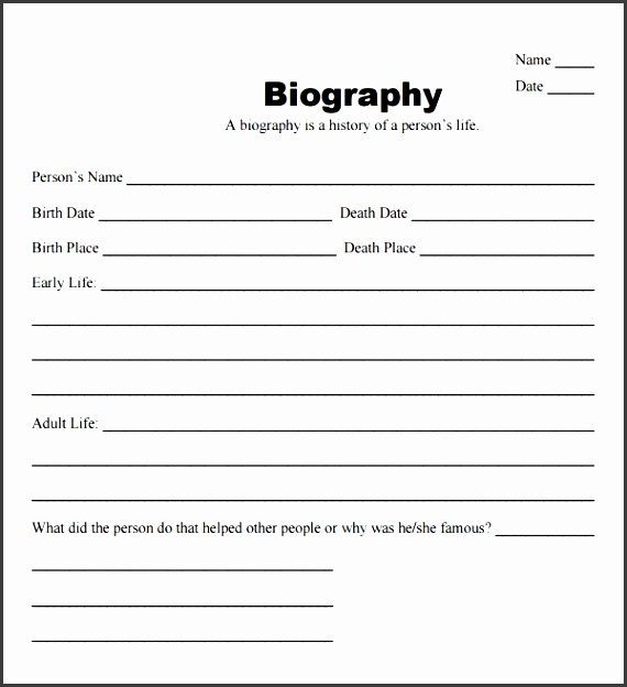 microsoft word biography template 10 biography templates word excel pdf formats