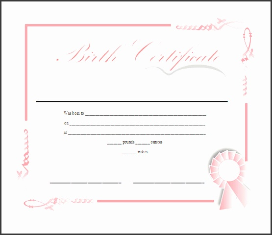 birth certificate template free in printable ms word