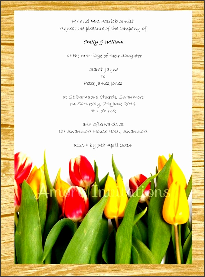 diy digital printable yellow red tulips wedding birthday party invitation template able instant microsoft word