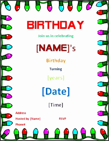 birthday party invitation template word is to sum up your outstanding ideas of do it yourself drop dead birthday invitations 14