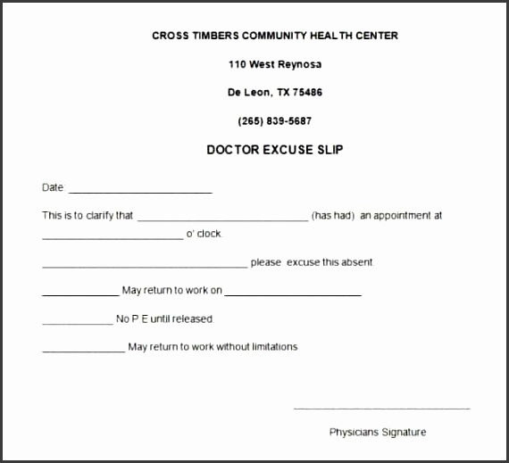 7 ms word doctor note template