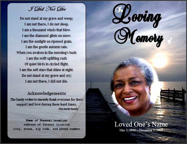 free obituary program template 73 best printable funeral program templates images on pinterest
