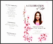 obituary program bi fold and funeral bulletins spring design funeral programs template