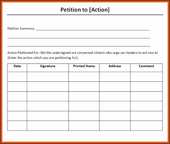 10 ms word petition template