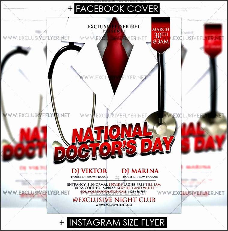 national doctors day premium flyer template 1