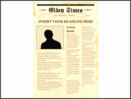 editable newspaper template portrait inside page