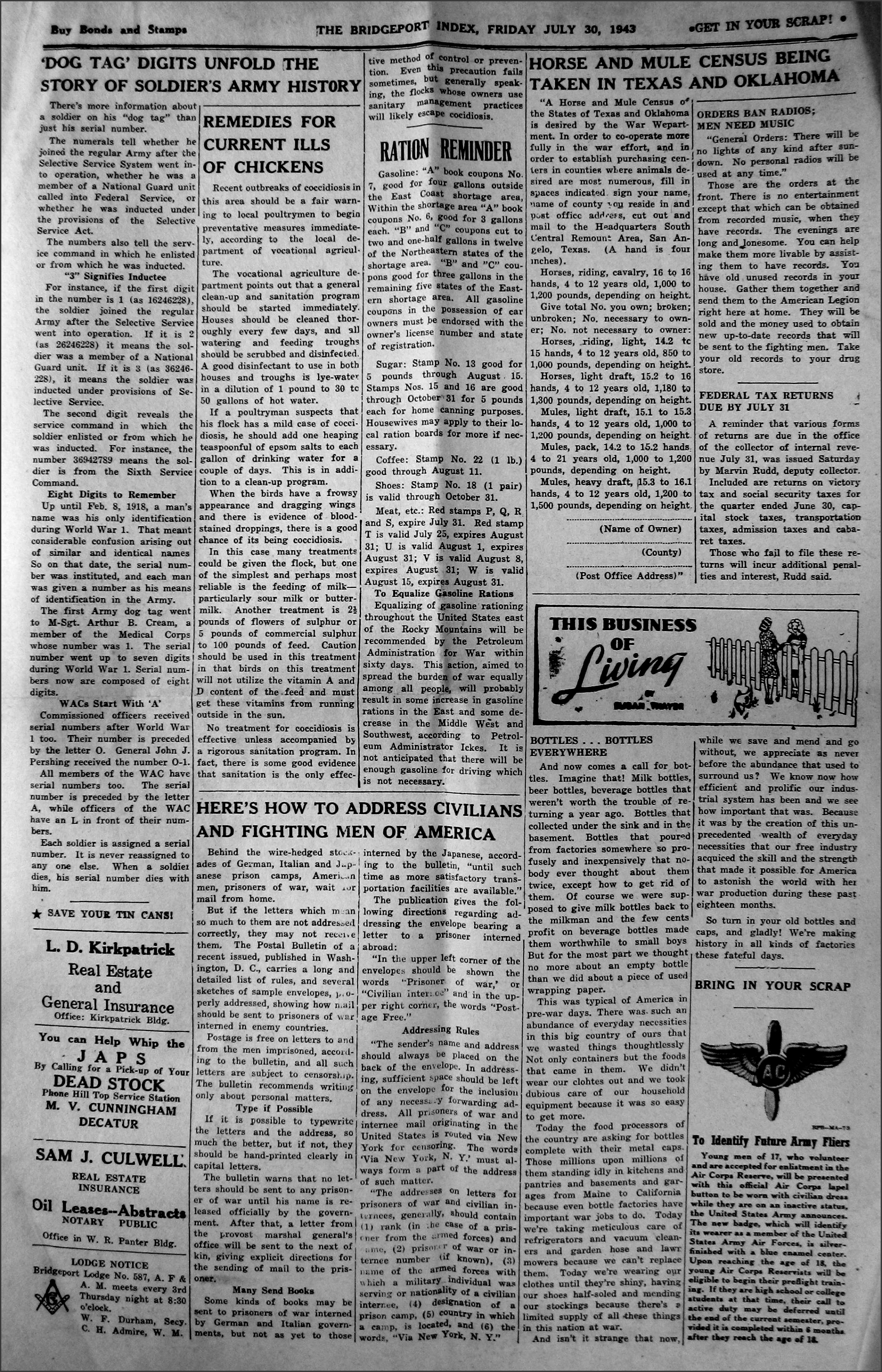 draft regulations questions news 1942 12 25 pg02 Â dunn george luther selma esther elsie mann wedding 1943 10 08 pg02 Â duryea florence mrs obituary