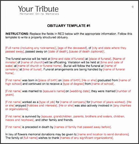 printable obituary template word 04
