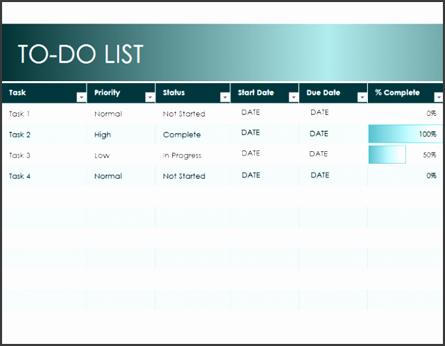 to do list template excel simple to do list office templates