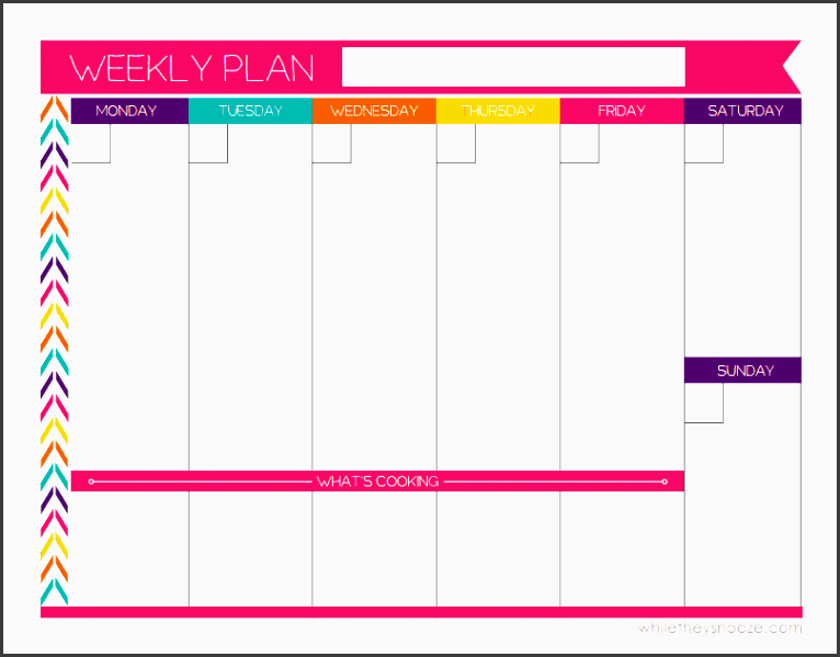 after searching thru a bunch of weekly planners i found one that even