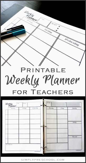 free printable weekly lesson planner includes goals to do list weekdays divided into