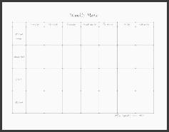 weekly menu horizontal