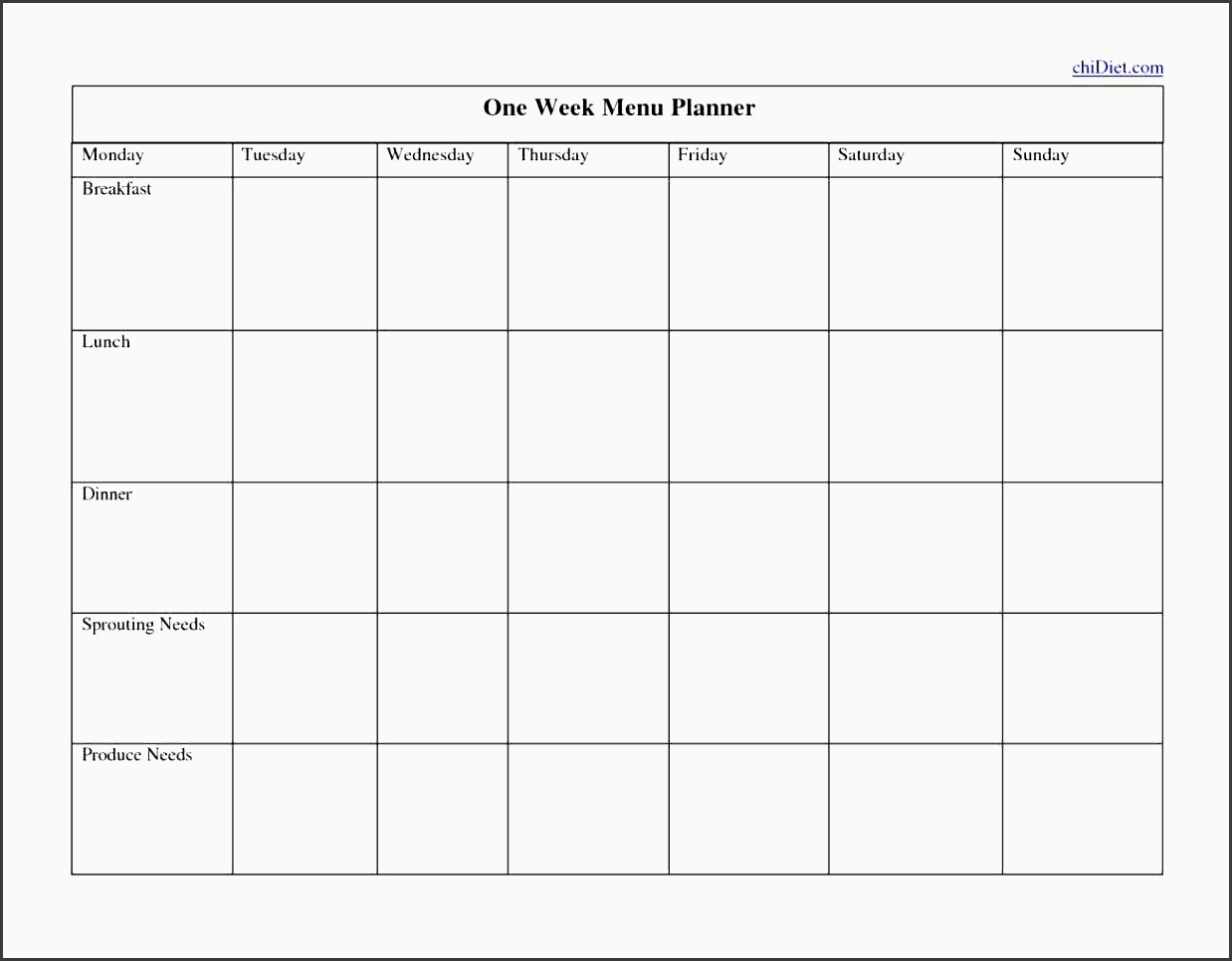 planners templates