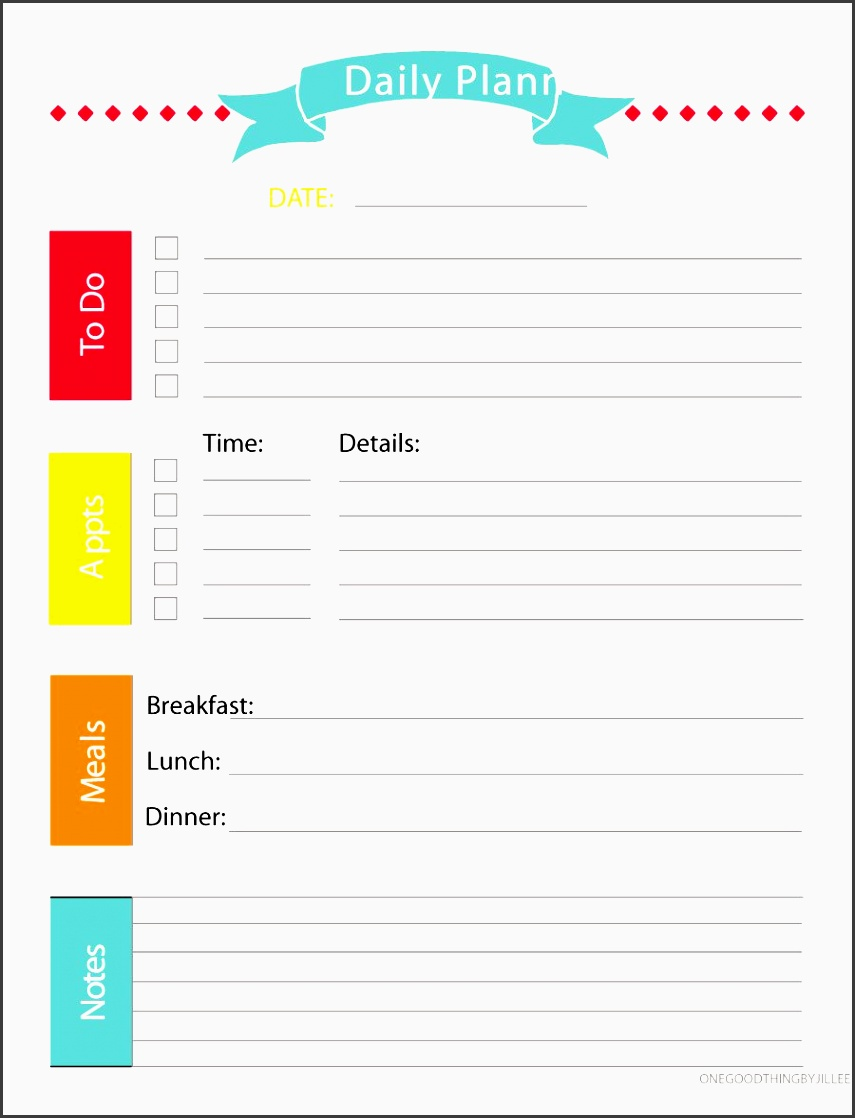 printable daily planner template 34