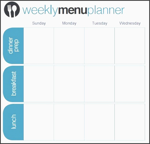 menu planner template 18 free word psd pdf eps indesign