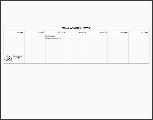 one week planner u s units templates free