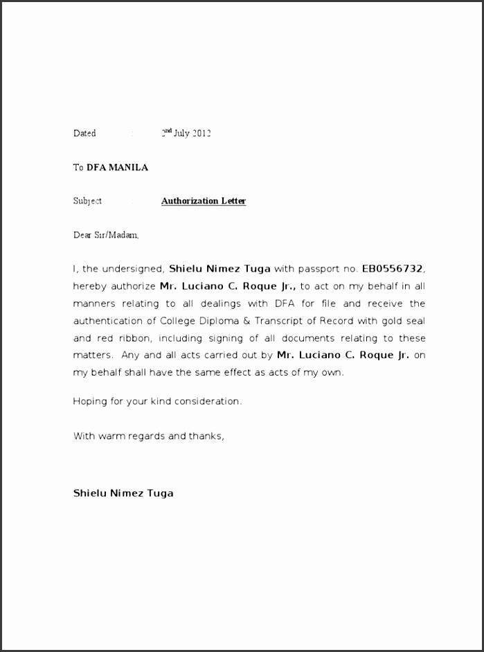 authorization letter dfa birth certificate templates templateg