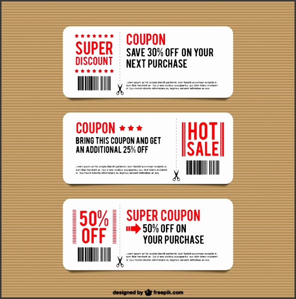 discount coupon templates free vector