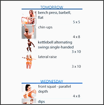 flexible workout scheduling at the gym or at home workout schedule icon