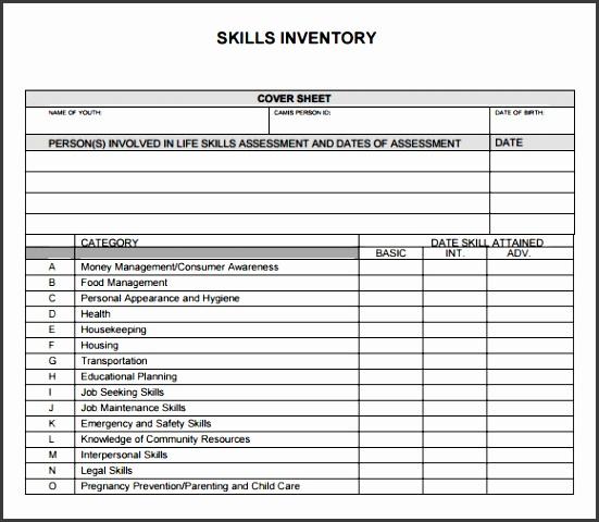 skills inventory sample surveyanalytics online