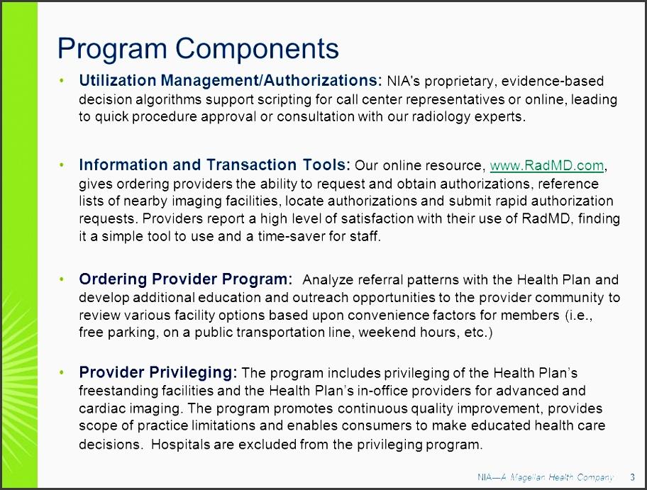 3 program ponents utilization