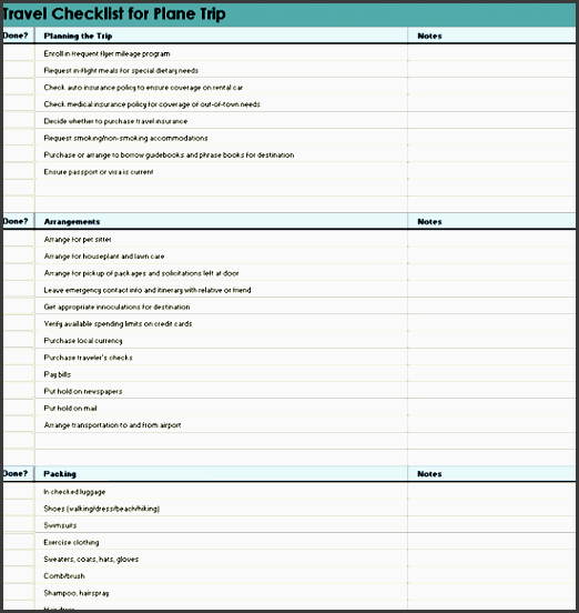 10 Online Vacation Itinerary Planner Template In Printable ...