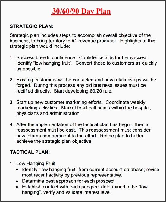 30 60 90 day plan template 8 free documents in pdf regarding 30