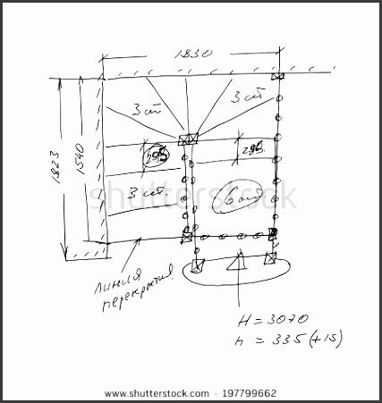 stair draft sketch black outline on white background vector illustration