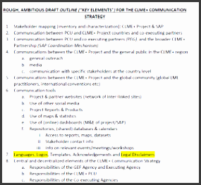 clme scm1 item 10 draft outline munications strategy proposal undp gef clme project