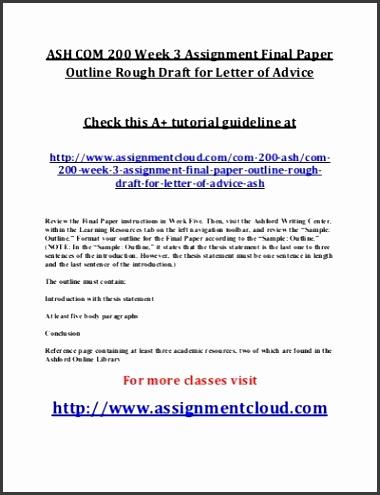 draft essay outline