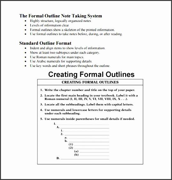 6 Outline format - SampleTemplatess - SampleTemplatess
