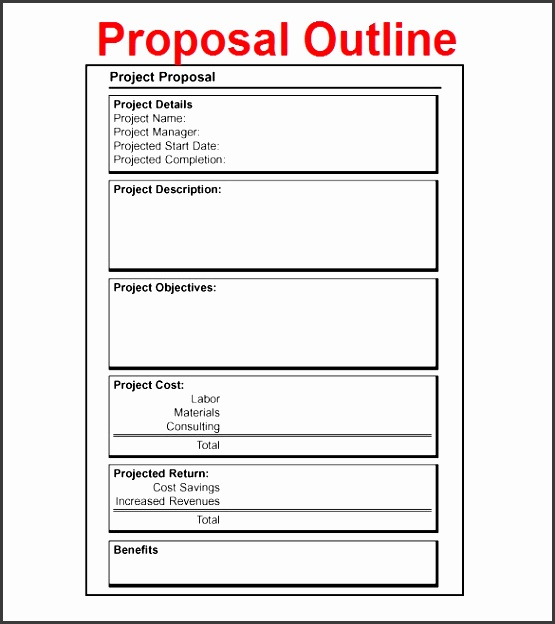 project presentation template word proposal outline template 9 free free word pdf format free