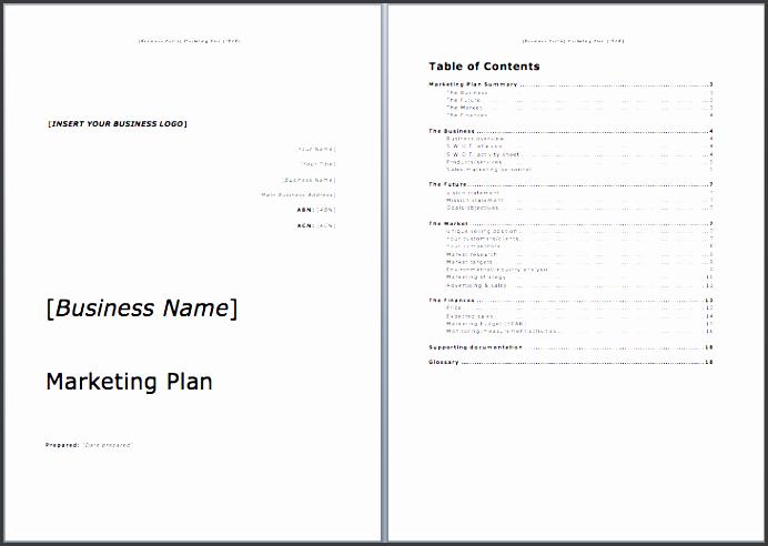 marketing plan template microsoft word templates
