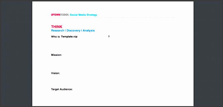 social media strategy outline template pdf