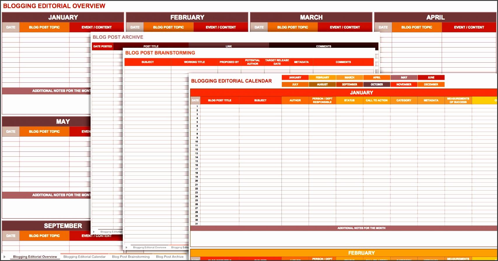blogging editorial calendar