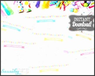 printable party planner 14 pages instant birthday baby shower party decor