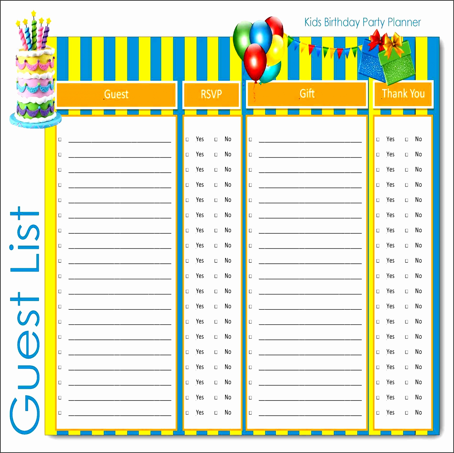 guest party guest list template list template job resumes word wedding party tracker example by keara