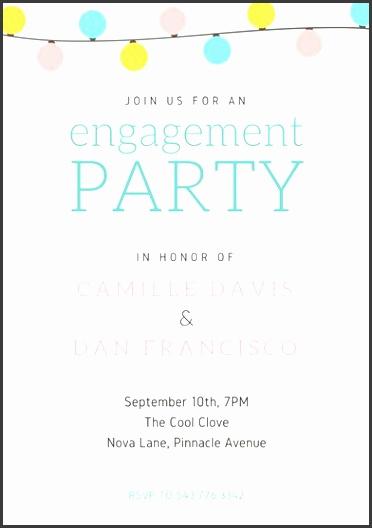 wedding engagement party invitation portrait