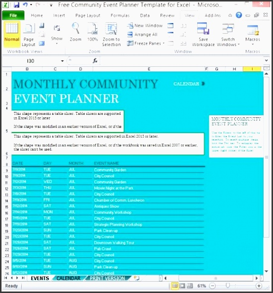 free munity event planner template for excel 1 580x617
