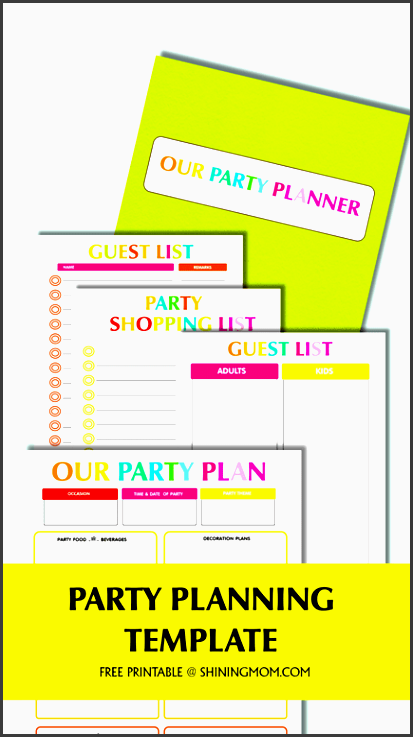 free party planning template
