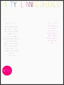 quick print party planning checklist